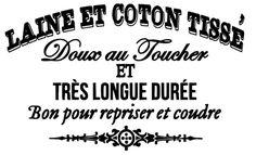 Todo transfer (pág. 147) | Etiqueta o postal francesa blanco y negro para decoupage o transferir.laine et cotton tissé