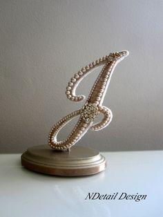 Wedding Cake Topper Monogram Letter J in by NDetailDesign on Etsy, $120.99