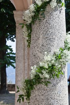 something like this for wood table? Loose ivy and baby's breath garland for wood table? something like this for wood table? Loose ivy and baby's breath garland for wood table? Church Wedding Flowers, Cheap Wedding Flowers, Church Wedding Decorations, Flower Bouquet Wedding, Ceremony Decorations, Wedding Pillars, Columns Decor, Wedding Table Garland, Gypsophila Wedding