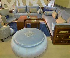 صالون مغربي Modern Sofa Designs, Chill Room, Home Room Design, House Rooms, Living Room Decor, Ottoman, New Homes, Furniture, Omelette
