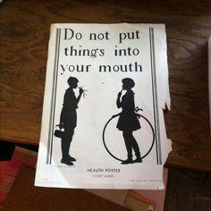 Vintage health poster