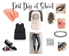 First Day of School by wattpad-is-life on Polyvore featuring American Eagle Outfitters, Vans, Free People, Givenchy, Charlotte Tilbury and Full Tilt