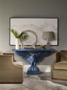 Copake Eagle Console Table - Our Products - Vanguard Furniture Console Table Living Room, White Console Table, Modern Console Tables, Luxury Furniture, Cool Furniture, Painted Furniture, Luxury Interior Design, Interior Design Inspiration, Accent Furniture
