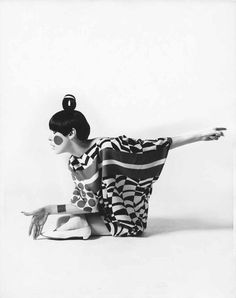 Peggy Moffitt modeling Rudi Gernreich design Photo by William Claxton 1967 courtesy The Museum of Contemporary Art Los Angeles