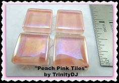 Peach Pink Tiles - Cabochons - Half Inch tiles
