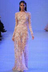 elie-saab-haute-couture-spring-2014 dress modeled by the Beautiful model Cindy Bruna