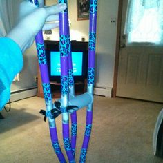 Crutches ideas! Decorate your crutches with duck tape!
