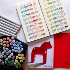 My new markers. Polina Ganzina. Sketchbook Moleskine. Finecolour markers.