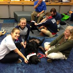 Stressed during finals? PAWS your stress during finals at the Carpenter Library #swooplife #dogsofinstagram