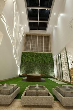 Here you will find photos of interior design ideas. Get inspired! Flat House Design, Duplex House Design, Home Room Design, Home Design Plans, Modern House Design, Home Interior Design, Interior Ideas, Terrace Garden Design, Vertical Garden Design