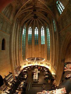 Maastricht an old church has been converted into a bookshop (Selexyz Dominicanen), Netherlands
