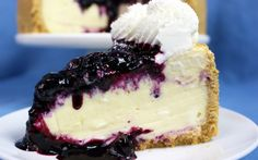 Creamy white chocolate cheesecake is perfection with blueberries. The sweet and the tart playing together in harmony with a back splash of hominess that the classic graham cracker crust brings.