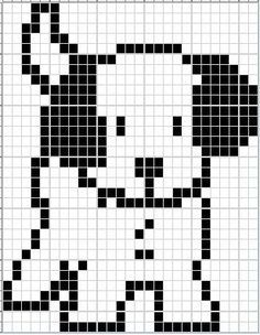 Little Scottie dog pattern chart, great for making crochet corner to corner blanket, or afgan. This could be used as a Graphgan pattern Dog Sweater Pattern, Crochet Dog Sweater, Baby Cardigan Knitting Pattern, Dog Pattern, Knitting Patterns Free Dog, Knitting Charts, Loom Patterns, Knitting Stitches, Cross Stitching