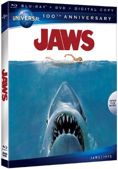 "Win 5 free Blu-rays for the highly anticipated home entertainment release of 1975's ""Jaws"" from Steven Spielberg courtesy of HollywoodChicago.com! Win here: http://ptab.it/575e"