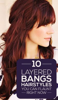 Everyday Hairstyles Here are 10 layered bangs hairstyles that will lend you the oomph factor that your look needs for sure! These top picks will definitely inspire you . - Everyday Hairstyles Here are 10 layered bangs hairstyles that - Ombré Hair, Hair Dos, New Hair, Prom Hair, Layered Hair With Bangs, Bangs Long Hair, Bangs Sideswept, Bangs With Medium Hair, Long Hair Tips
