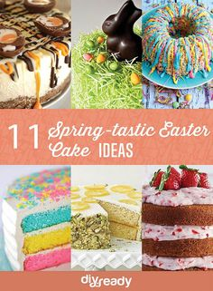 Enjoy this Spring inspired yummy Easter cakes with the kids by DIY Ready at http://diyready.com/11-spring-tastic-easter-cake-ideas/