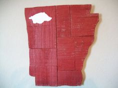 Reclaimed Wood Arkansas with Hog. $28.00, via Etsy.