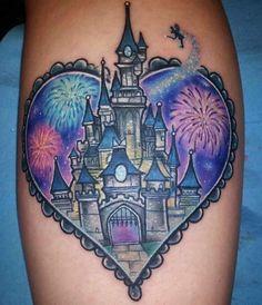 Disney Magic Kingdom Tattoo by Erykane