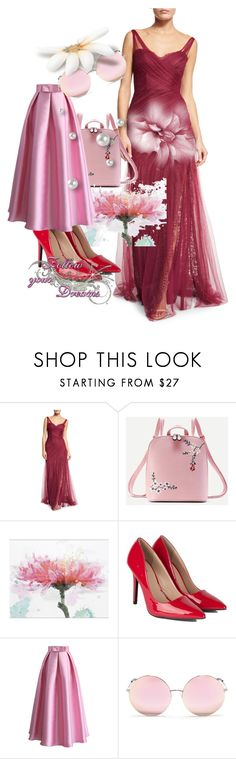 """""""Untitled #63"""" by edina-danis ❤ liked on Polyvore featuring Monique Lhuillier, WithChic, Chicwish and Matthew Williamson"""