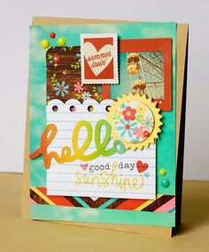 Such a fun card! I love the retro look! #simplestories, #Good Day Sunshine