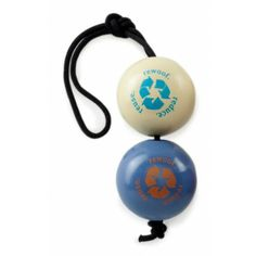 Orbee Tuff Recycle Balls on a Rope - Toys - Olive