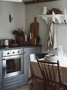 Living by W Decor, Kitchen Interior, Wood Furniture Design, Dining Inspiration, Ikea, Home Decor, Country Kitchen, Home Kitchens, Wood Furniture Diy
