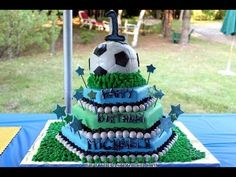 ▶ Watch How to Make a Fondant Soccer Ball/Sports Cake! *Custom Cake Decorating Video* - YouTube