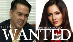 """Model Deniece Cornejo, businessman Cedric Lee and three others are now considered 'fugitives' according to the National Bureau of Investigation on Tuesday, April 22. In a report by ABS-CBN News, the NBI alerted all ports in the country to prevent the escape of Lee and Cornejo, said NBI National Capital Region director Efren Meneses. """"We …"""