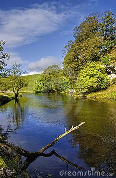 Scenic view of river Wharfe, Yorkshire Dales National Park, England.