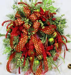 135 best Custom Christmas Wreaths images on Pinterest | Christmas ...