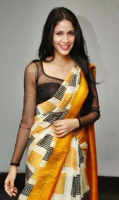 black lace saree blouse