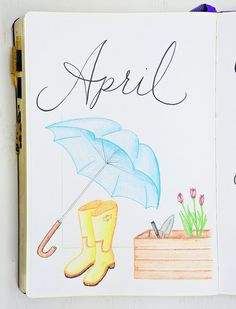 April Setup with 6 Free Printables ⋆ Sheena of the Journal - - Time for another monthly planning session! See how I'm setting up the month of April in my Bullet Journal and get a free monthly planning pack! Bullet Journal September Cover, Bullet Journal Cover Page, Bullet Journal 2019, Bullet Journal Ideas Pages, Bullet Journal Layout, Journal Covers, Bullet Journal Inspiration, Journal Pages, Bullet Journals