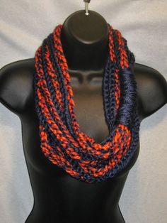 Chicago Bears Scarf Infinity Scarf by TheLittleBarntique on Etsy, $14.95