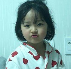 Cute Asian Babies, Korean Babies, Cute Korean Girl, Asian Kids, Cute Babies, Cute Baby Meme, Baby Memes, Cute Memes, Cute Little Baby