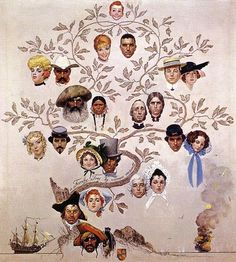 I'm completely fascinated with family trees and lovely illustrations so this is a beautiful combo of both.