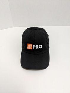 The Home Depot Pro Baseball Hat Strapback Cap - Black 100% Cotton  fashion   e9752a12d589