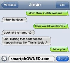 Caleb - - Autocorrect Fails and Funny Text Messages - SmartphOWNED Funny Shit, Funny Texts Jokes, Text Jokes, Funny Text Fails, Cute Texts, Funny Text Messages, Funny Relatable Memes, Haha Funny, Epic Texts