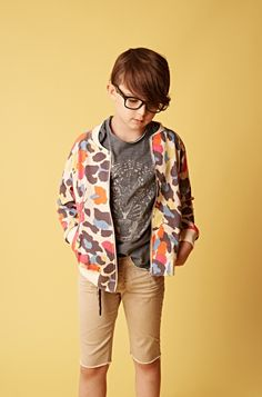 Cool playful bomber jacket for boys from Anais and I spring/summer 15 kidswear collection