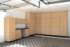 "312"" W x 96"" H x 24"" D Wood Storage Cabinets"