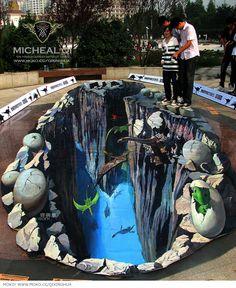 Awesome 3D Sidewalk Art