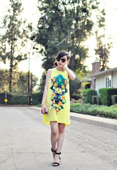 Judy from Style Drummer in the Sonic Garden Dress (http://www.nastygal.com/product/sonic-garden-dress)