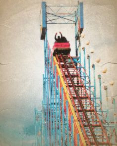 Rollercoaster at the Carnival- 8 x10 Photography Art Print. $25.00, via Etsy.