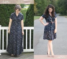DIY Clothes Refashion: DIY alternate method for shortening a long dress