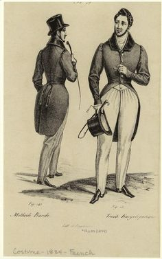 [Men dressed in coats and hats, France, 1834.] Men -- Clothing & dress -- France -- 1830-1839