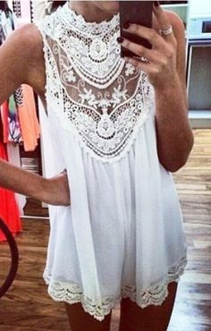 white boho summer dress