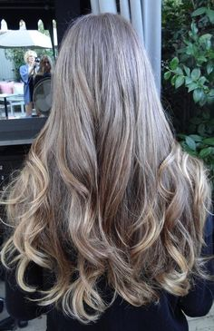 LONG Medium brown with golden highlights - Hairstyles and Beauty Tips