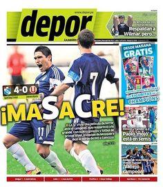 La portada del diario Depor informando el triunfo de Cristal