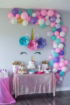 Diy Unicorn Birthday Party, Unicorn Birthday Parties, First Birthday Parties, Birthday Party Decorations, Happy Birthday, Birthday Wishes, Birthday Ideas, Birthday Cards, Birthday Month