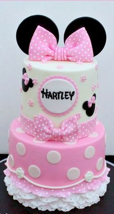 Pink Minnie Mouse Cake