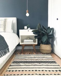 25 Perfect Minimalist Home Decor Ideas. If you are looking for Minimalist Home Decor Ideas, You come to the right place. Below are the Minimalist Home Decor Ideas. This post about Minimalist Home Dec. Blue Bedroom, Trendy Bedroom, Bedroom Colors, Home Decor Bedroom, Living Room Decor, Bedroom Designs, Bedroom Plants, Living Rooms, Bedroom Neutral